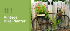 This vintage bicycle makes the perfect DIY Planter!