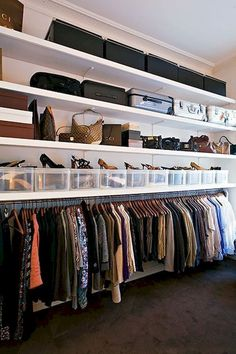 49 Creative Closet Designs Ideas For Your Home. Unique closet design ideas will definitely help you utilize your closet space appropriately. An ideal closet design is probably the only avenue . Master Closet, Closet Bedroom, Bedroom Storage, Bedroom Decor, Closet Space, Attic Closet, Bedroom Ideas, Master Bedroom, Attic Storage