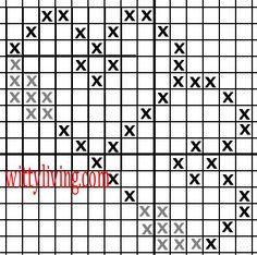 Free Cross Stitch Patterns, Double Hearts Border corner