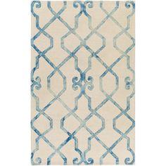 Artistic Weavers Organic Amanda Hand-Tufted Ivory/Blue Area Rug & Reviews | Wayfair