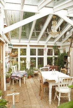Enclosed Porch home outdoors style decorate porch entertain dining windows enclosed