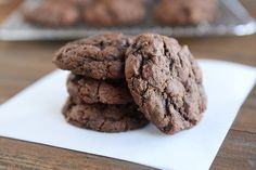 Everything a chocolate cookie should be, these triple chocolate zucchini cookies are soft and rich and wonderfully not cakey at all. Hallelujah!