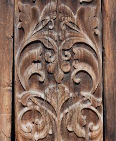 Beautiful Norwegian wood carved door.