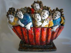 Marie Féral-Descours | Vers un ailleurs Sculpture en terre cuite émaillée (céramique h x 30 - l x 38)