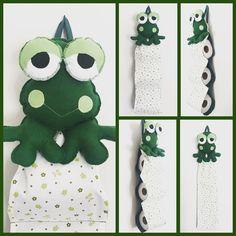 Porta papel higiênico de sapinho! Encomenda pronta e a caminho! #sapo #sapinho #verde #frog #portapapel #portapapelhigienico…