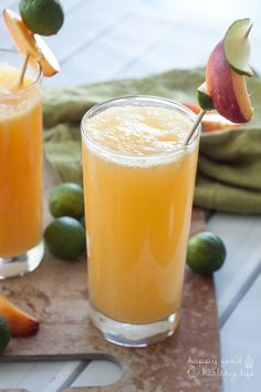 Fresh Peachy Lime Cocktail - Happy Food, Healthy Life