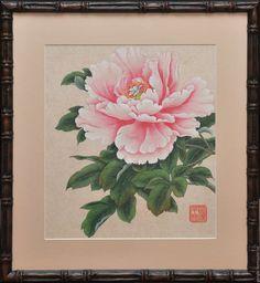 Chinese Painting, Chinese Art, Peony Flower, Flower Art, Watercolor Flowers, Watercolor Art, Flora, Japanese Prints, Asian Art