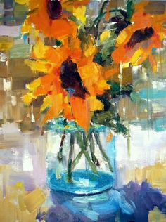 Oil Painting Flowers, Abstract Flowers, Sunflower Art, Brown Art, Paintings I Love, Floral Paintings, Art Moderne, Arte Floral, Art Oil