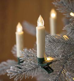 Clip-On Christmas Tree Candle Lights, Set of 10 | Holiday Lighting