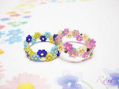 Seed Bead Patterns, Beaded Bracelet Patterns, Friendship Bracelet Patterns, Seed Bead Bracelets, Seed Bead Jewelry, Bead Jewellery, Beaded Jewelry Designs, Handmade Jewelry, Diy Beaded Rings