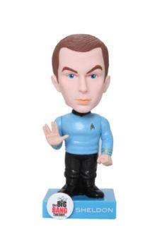 Star Trek The Big Bang Theory Sheldon Wacky Wobbler