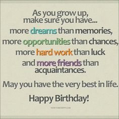 18th birthday wishes for son or daughter messages from parents to happy birthday inspirational quote birthday wishes m4hsunfo