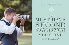 Wedding Photography Poses A second photographer's responsibility on the wedding day Wedding Photography Shot List, Wedding Shot List, Wedding Photography Checklist, Professional Wedding Photography, Wedding Photography Inspiration, Wedding Tips, Trendy Wedding, Wedding Photos, Dream Wedding