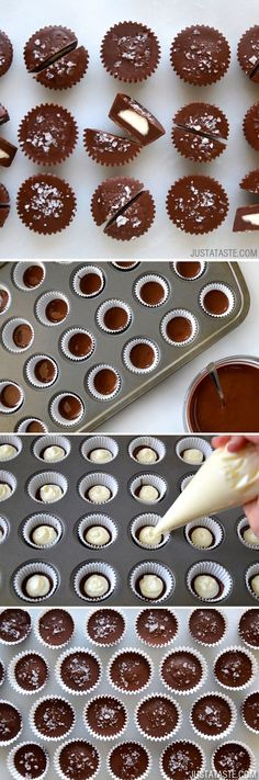 No-Bake Chocolate Cheesecake Cups #Chocolate #recipe #dessert