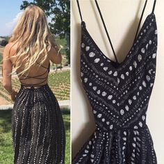 Cross Back Patterned Maxi Dress Worn once!! This basically backless maxi dress features two slits in the front, and a form fitting top, with flowing maxi bottom. One of my most complimented items. Ecote from Urban Outfitters. Ecote Dresses Maxi