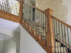 Utah stair railings built by Apex Carpentry. | Utah Carpentry Advice
