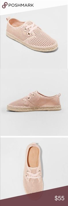 🎀 Espadrille Sneakers🎀 New A flat heel keep you walking comfortably all day Lace-up closure lets you find your ideal fit Perforated design and woven sole bring interest no matter what you pair them with. Shoes Sneakers