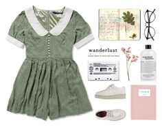 """Wanderlust"" by franchesca-29 ❤ liked on Polyvore featuring Moleskine, philosophy, Mason's and Veras"