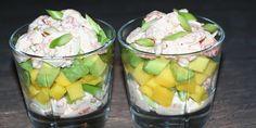 Exotic seafood salad with mango and avocado – Fisk og skaldyr Seafood Salad, Fish And Seafood, Mango Salat, Avocado, Chili Sauce, Food Tags, Fruit Salad Recipes, Evening Snacks, Cooking Recipes
