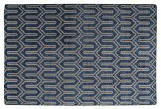 6'x9' Deka Rug, Blue/Beige on OneKingsLane.com