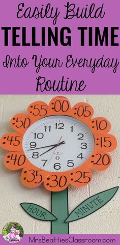 Teaching time skills in your classroom? Telling time comes easier to students when it is practiced in authentic situations. Help your students learn telling time skills by building this into your everyday classroom routine. Check out the anchor display id