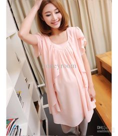 NEW Fashion Maternity Wear Clothing Summer Pink Dress Skirt Pregnant Women Chiffon One-Piece Cute Maternity Dresses Cheap Maternity Dresses Maternity Dresses Online with $24.74/Piece on Honeyroom's Store | DHgate.com