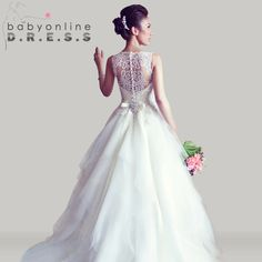 2014 New Arrival Amazing Sleeveless Crystal Ball Gowns Lace Appliques Wedding Dresses WD0534