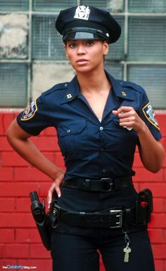 Police Muscle Cute Ebony Teenager Gets