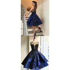 Fashion Royal Blue vintage Ball Gown Open backs homecoming prom... ($157) ❤ liked on Polyvore featuring dresses, gowns, vintage evening gowns, royal blue long dress, long dresses, prom ball gowns and long prom dresses