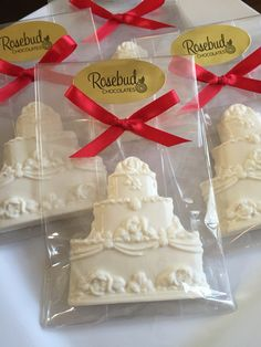 White Chocolate Wedding Cake Favors
