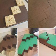 Minecraft Torte, Minecraft Birthday Cake, Easy Minecraft Cake, Minecraft Crafts, Minecraft Skins, 8th Birthday, Birthday Party Themes, Birthday Cakes, Birthday Ideas
