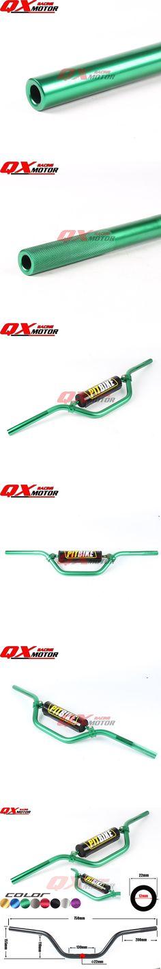Green 7075 Aluminum Motorcycle Handlebar handle bar For KAYO Apollo BSE IRBIS TTR CRF KLX 50-160cc MX Mini Dirt Pit Bike Quad