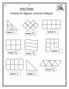 Dessins magiques de fractions fractions - Fraction cm1 a imprimer ...
