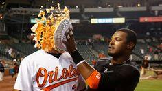 Adam Jones resurrects pie celebration after Orioles win...: Adam Jones resurrects pie celebration after Orioles… #BaltimoreOrioles #Orioles