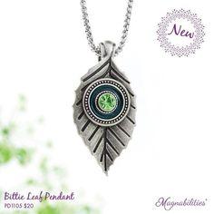 Leaf jewelry pendant