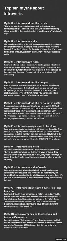 Top 10 Myths About Introverts