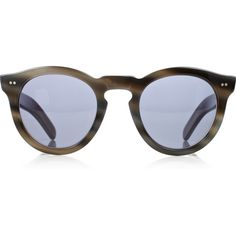 Cutler and Gross Round-frame acetate sunglasses ❤ liked on Polyvore