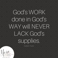 Have you seen God provide in amazing ways, even when it appeared that you'd come up empty? Have you witnessed His provisions at times you doubted His purposes? And maybe, most importantly, what does it look like for you to lean forward into God's ways, to trust Him for HIs supplies?