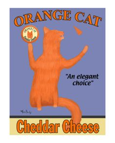 Orange Cat Limited Edition- I love Ken Bailey's artwork