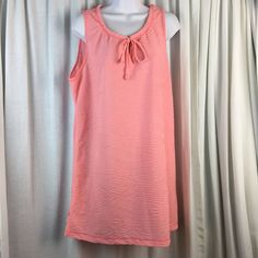 ac227645e913e Dotti Women's Swimsuit Beach Cover up Dress XL Peach Sleeveless