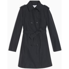 MAX&Co. Slim trench coat in cotton/nylon (€205) ❤ liked on Polyvore featuring outerwear, coats, midnight blue, toggle coats, cotton coat, double breasted coat, max&co coat and collar coat