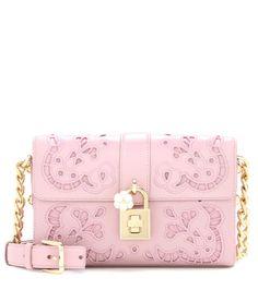 Dolce & Gabbana - Embroidered Dolce leather crossbody bag   mytheresa.com
