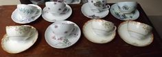 Hey, I found this really awesome Etsy listing at https://www.etsy.com/listing/220723253/vintage-8-tea-cup-bulk-saucers-flowers