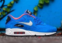 nike air max 90 azules con blanco solo talles 40 y 43
