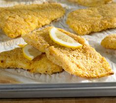 Crisply Baked Basa Fillets. Made these tonight, very yummy!! I left out the superfluous lemon slices, and didn't even bother oiling the parchment paper. No problem. Used my own crumbs made from whole wheat toast. Super success!