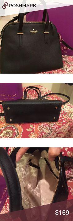 Kate Spade Maise Blk bag Kate Spade saffiano leather Maise cross body satchel bag like new!! kate spade Bags Crossbody Bags