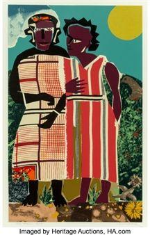 Romare Bearden - Two Women, 1981 - 1982,...