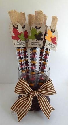 Chick-n-Scrap: Halloween and Fall Candy Sticks. Fall Craft Fairs, Craft Show Ideas, Fall Crafts, Holiday Crafts, Halloween Cards, Halloween Treats, Fall Halloween, Candy Crafts, Paper Crafts