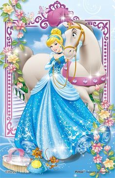 Yanoman Clear Stand Jigsaw Puzzle 2500-10 Disney Cinderella (132 Pieces)