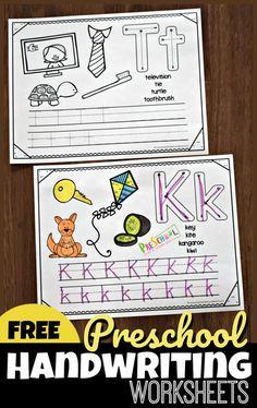 FREE Preschool Handwriting Worksheets